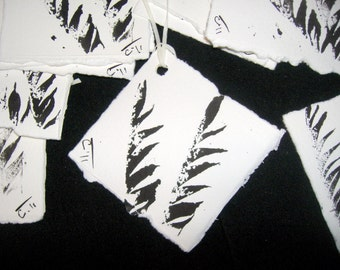 Handmade Oregon Nature Gift Tags . 10 count . Feathers