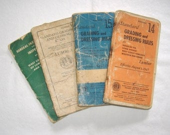 4 vintage books • Standard Grading and Dressing Rules • West Coast Lumber