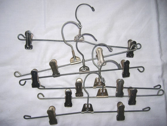 Vintage Metal Clip Pants / Skirt Hangers . . . 6 count