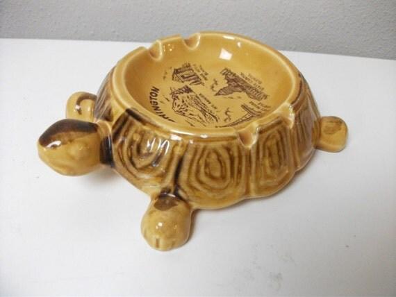 50s Turtle Shaped Washington State Souvenir Ashtray