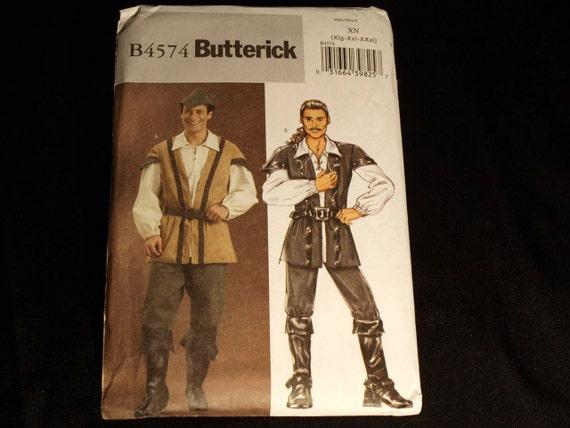 Butterick Men's Swashbuckler Robin Hood Costume Pattern