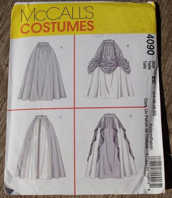 Renaissance Skirts Costume Sewing Pattern by McCalls