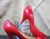 Painting The Town Red HOT- Evan Picone Pumps
