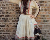 Vintage Bohemian Embellished Two Piece Gypsy Dress