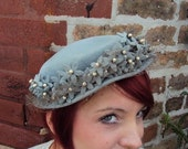 1940s Crown of Flowers Church Hat
