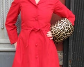 Dashing 70s Red Trench Coat