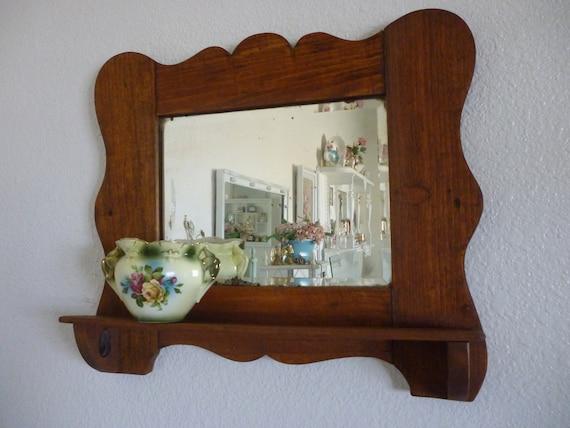 Antique Beveled Mirror Shelf