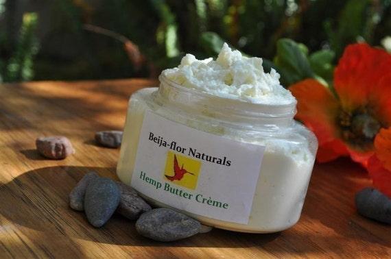 Body Butter Organic Hemp Buttercream for Natural Hair Moisture and Dry Sensitive Skin.