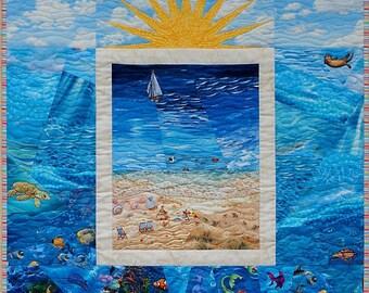 Beach Scene Quilt Pattern - Package