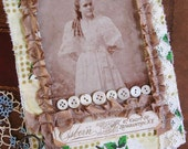 on reserve - Vintage Belle - Mixed Media JOURNAL - Photos and Linens