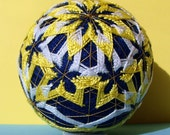 RESERVED - Wandering Stars Temari - Hand Embroidered Thread Ball