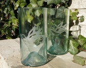 READY TO SHIP- Recycled Wine Bottle Tumbler Set of 2