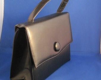 Black Vintage Purse with Button Detail