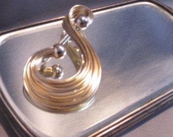 Vintage Napier S Swirl Brooch