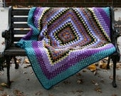 Hand Crocheted Giant Granny Square Blanket