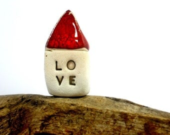 Red Love house  Miniature houses  Holiday gift