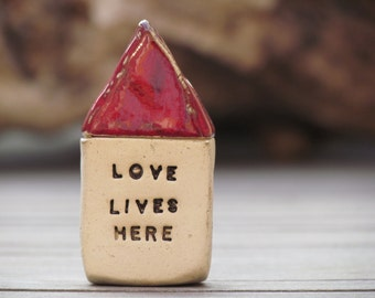 Love lives here Miniature houses  Ceramic house