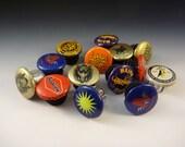 Handlebar Beer Caps - recycled - handmade - sold per pair