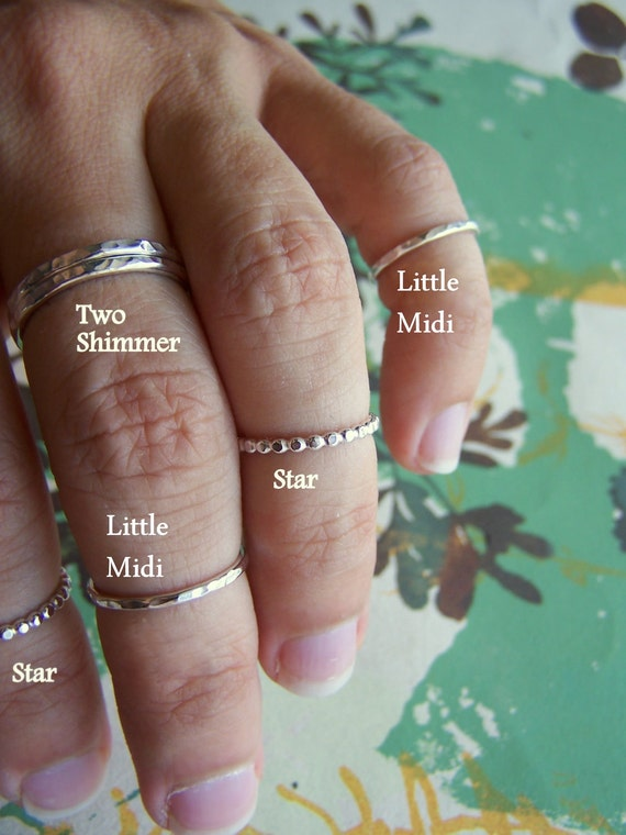 Little Midi Ring - Size 5 - Sterling Silver