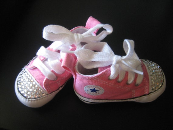 Pink Bling Baby Converse Shoes