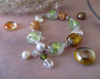 Stretch Lampwork Glass Bracelet