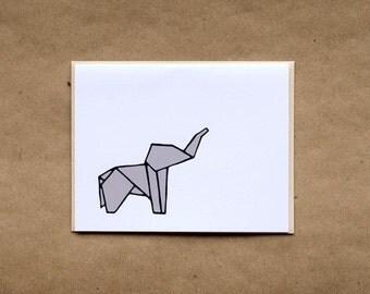 Origami Elephant Stationery