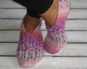 Handkintted Wool Lollipop Slippers