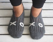 Dark Grey XOXO Slippers