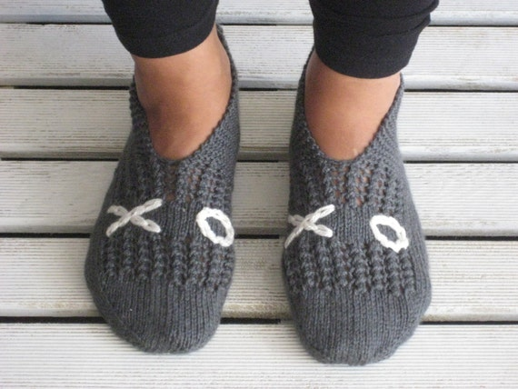 Dark Grey XOXO Slippers
