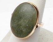 Natural Emerald Hand Made Ring 14 KT
