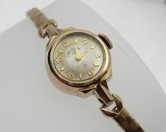 Lady Elgin Working Wind Up Watch 10 KT Gold Filled