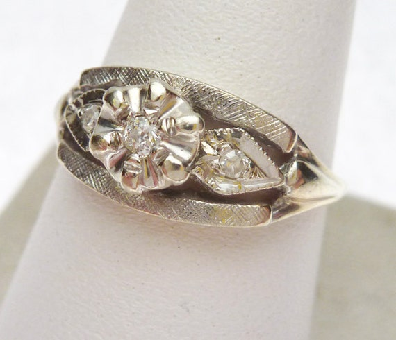 reserved 14kt 10 pt princess engagement ring 1950s