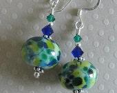 SEABREEZE BLUES LAMPWORK earrings