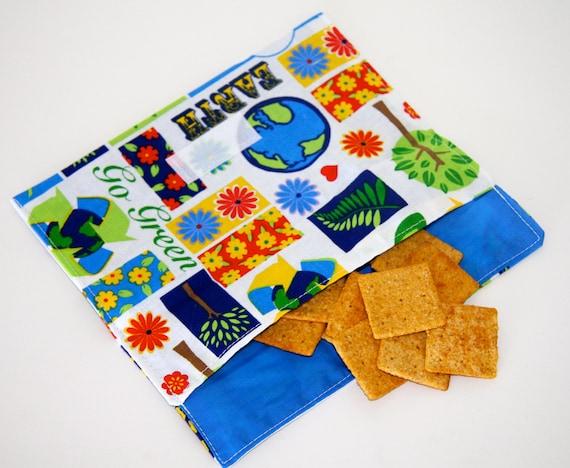 Eco-Friendly Reusable Go Green Recycl-a-bag Snack Bag