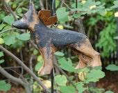carved german shepherd