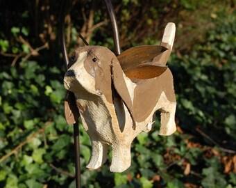 Carved Basset Hound