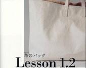 Making Leather Bags Lesson 1, 2 - Umami,  Yoshimi Ezura, Japanese Sewing Pattern Book, Easy Leather Bag Making Tutorial, B376
