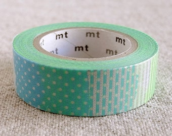 Lovely Patch E Green, Japanese mt Washi Masking Tape, Scrapbooking, Adhesive Tape, Journal Washi, Card Decoration, Decorative Tape, Wrapping