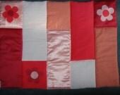 Quilt/Playmat with Applique Flowers