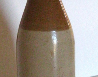 Vintage Two Tone Stoneware Beer Bottle