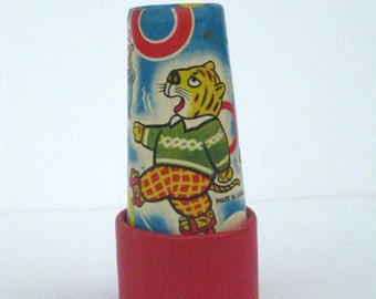 Vintage Made in Japan Kaleidoscope Toy Animal Circus Zoo Theme