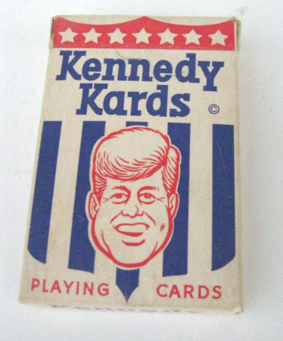 Vintage 1963 Kennedy Kards Deck of Vintage Political Cards JFK and Kennedy Family Humor House