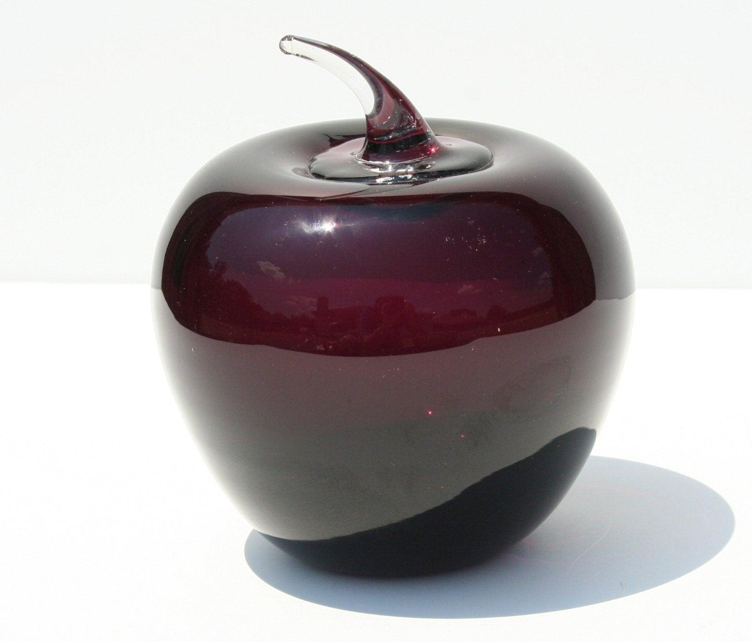 Vintage Purple Amethyst Blenko Glass Apple