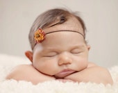 Rust Natural Flower Blossom Baby Band