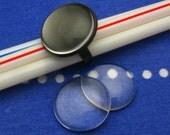 20pcs 23mm BRASS base Trays Circle Adjustable black blank ring
