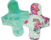Regular cloth menstrual pad with leakproof layer - bamboo velour - art nouveau - AIO