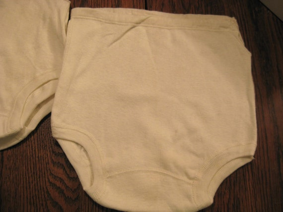 Childs Panties Underwear 3 pr Cotton Side Button sz 10 NOS 1940s