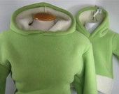 Mommy and Me Sherpa Hoodies.Coconut Lime. Custom sizing.