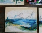 Original Pastel Drawing of Seascape