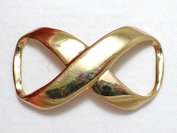 14k Gold Infinity Slide Pendant For Omega By 24k18k14k10kgold